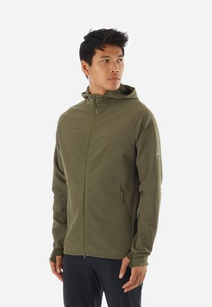 MACUN - Soft shell jacket - green/dark green