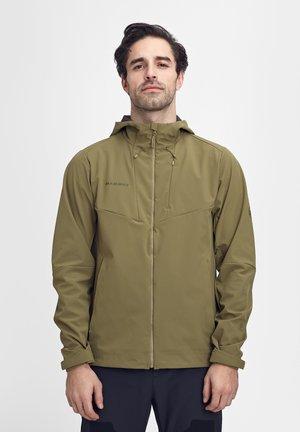 Soft shell jacket - olive