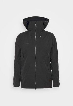 CRATER HOODED JACKET MEN - Waterproof jacket - black
