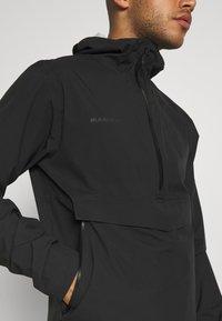 Mammut - ALBULA HALF ZIP HOODED JACKET MEN - Regnjakke / vandafvisende jakker - black - 3