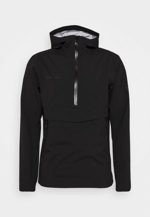 ALBULA HALF ZIP HOODED JACKET MEN - Regenjas - black