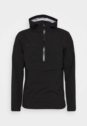 ALBULA HALF ZIP HOODED JACKET MEN - Waterproof jacket - black