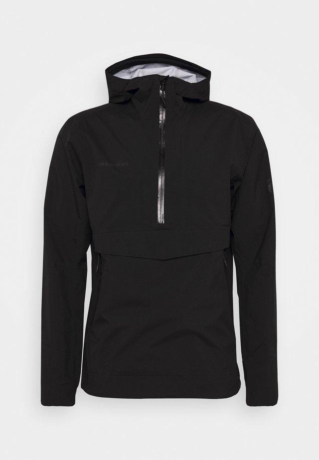 ALBULA HALF ZIP HOODED JACKET MEN - Regnjakke / vandafvisende jakker - black