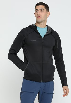 LOGO HOODED JACKET MEN - Kurtka Outdoor - black melange