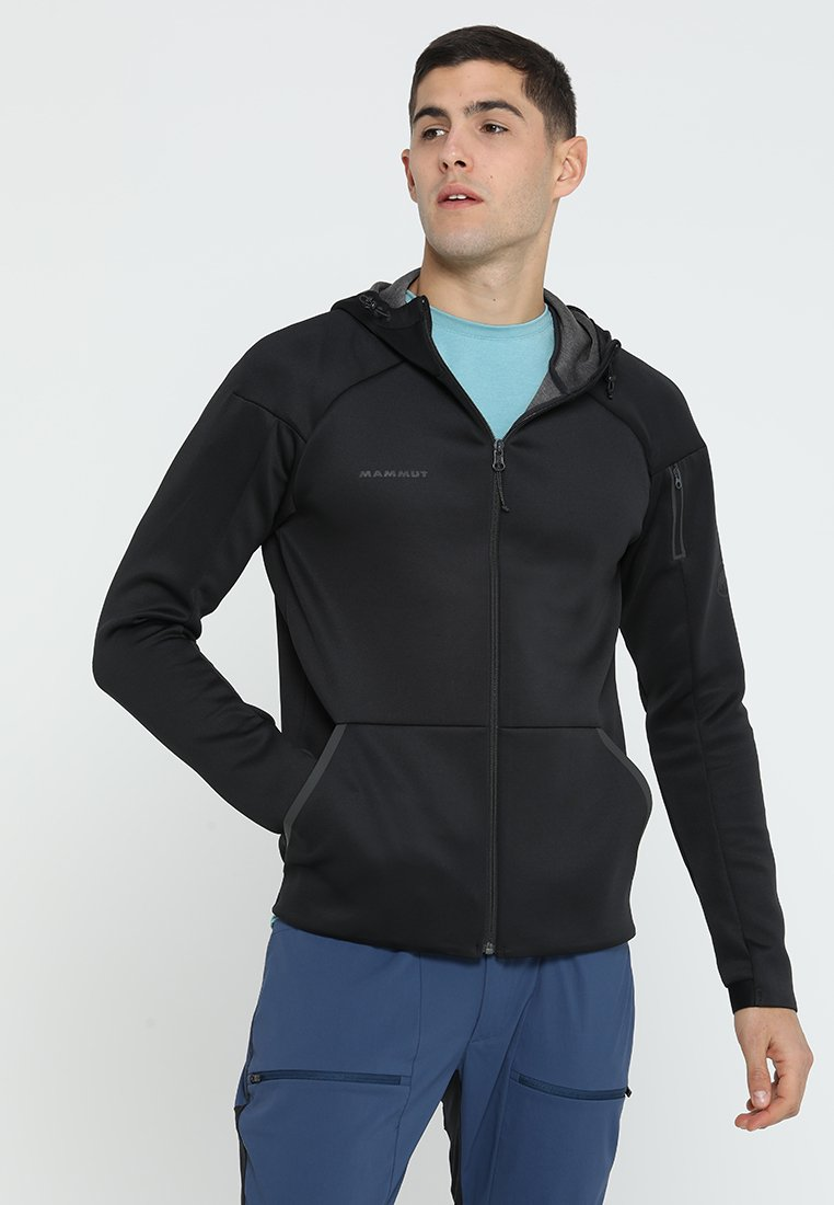 Mammut - LOGO HOODED JACKET MEN - Outdoorjacke - black melange