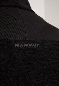 Mammut - YADKIN  - Hoodie met rits - black mélange/black - 7