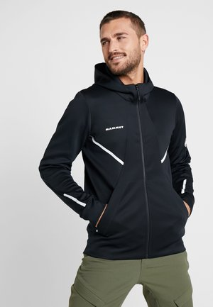 AVERS HOODED JACKET MEN - Kurtka z polaru - black