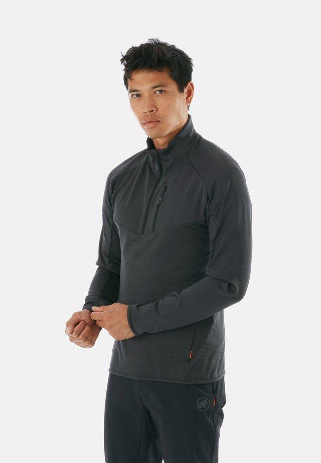 Fleece trui - black melange