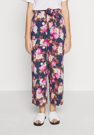 MOGOL - Trousers - dark blue/multi-coloured/pink