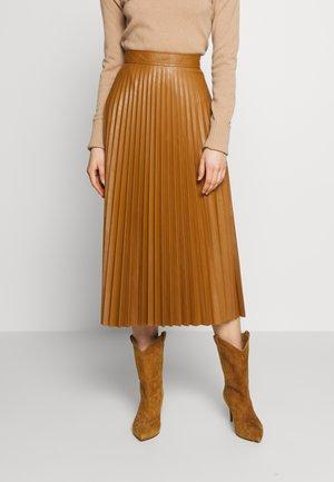 ETNA - A-line skirt - tobacco