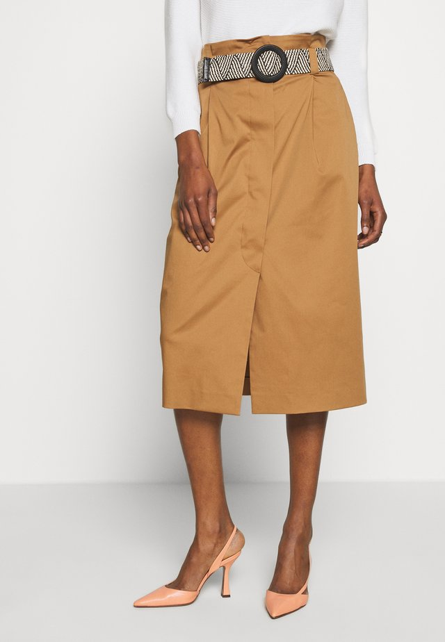 BACILLO - A-line skirt - tobacco