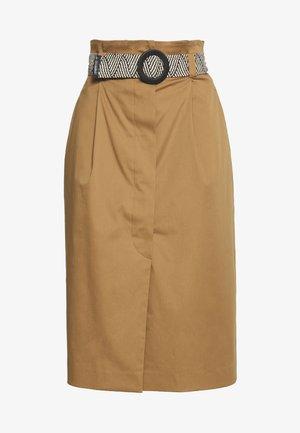 BACILLO - Áčková sukně - tobacco