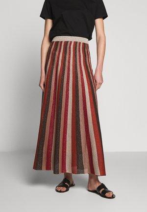 OFELIA - Maxi skirt - cherry