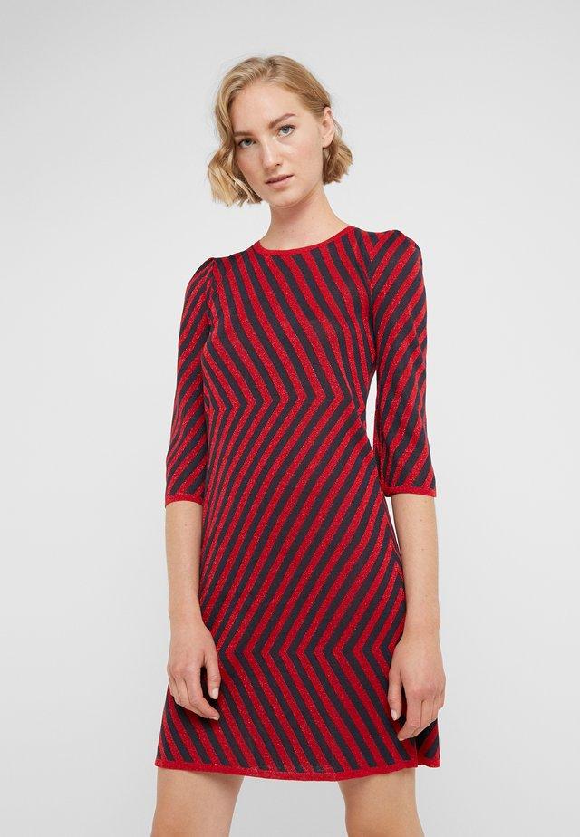 NUBIE - Stickad klänning - midnightblue