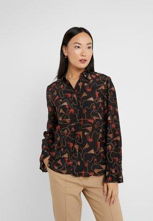 SALIMA - Button-down blouse - black