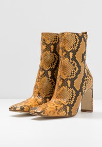 MIISTA - MARCELLE - High heeled ankle boots - honey - 4