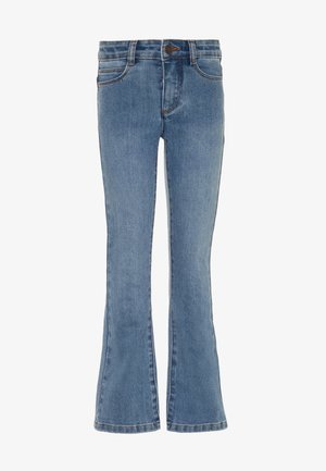 ALIZA - Bootcut jeans - mid blue wash