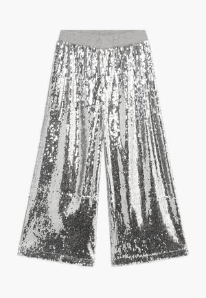 ALIECIA - Kangashousut - silver