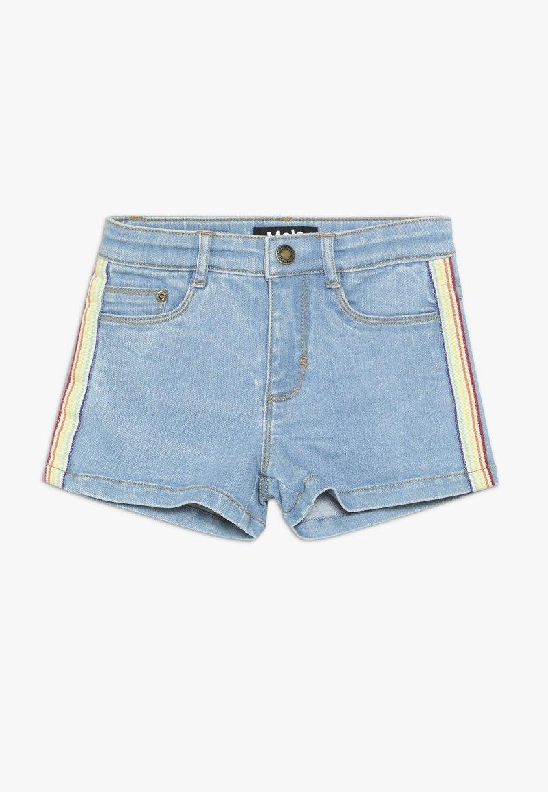Molo - ANGELINA - Denim shorts - light blue denim