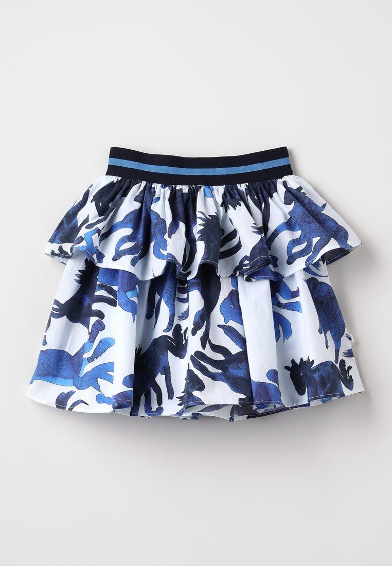 Molo - BRIANNA - Plooirok - white/blue