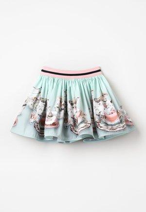 BRENDA - Veckad kjol - green