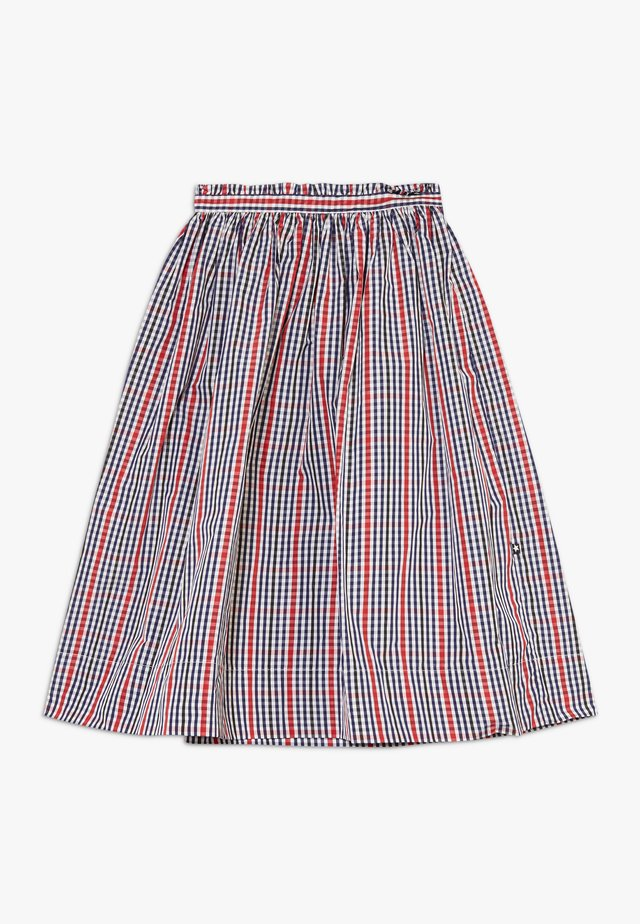 BRISA - A-line skirt - red/blue
