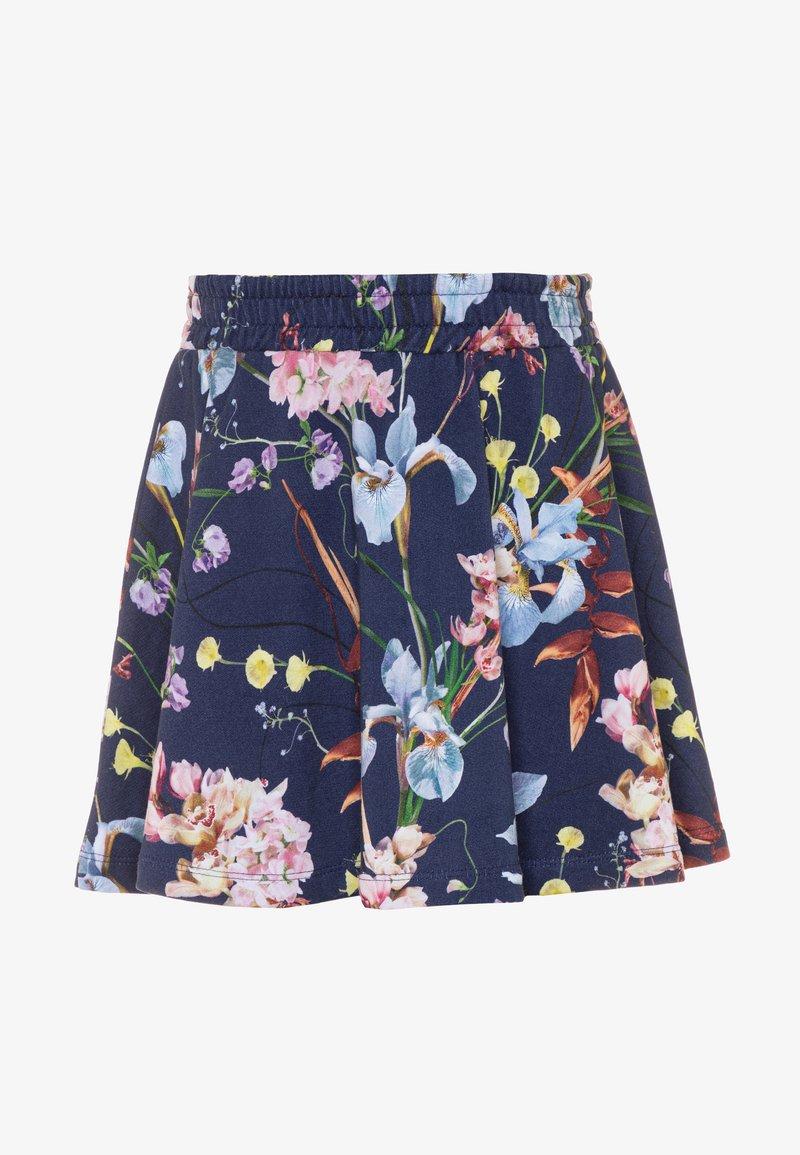 Molo - BARBERA - Áčková sukně - ikebana blue