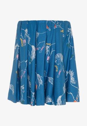 BETHY - Pleated skirt - blue