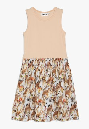 COLLEEN  - Jersey dress - apricot/multi-coloured