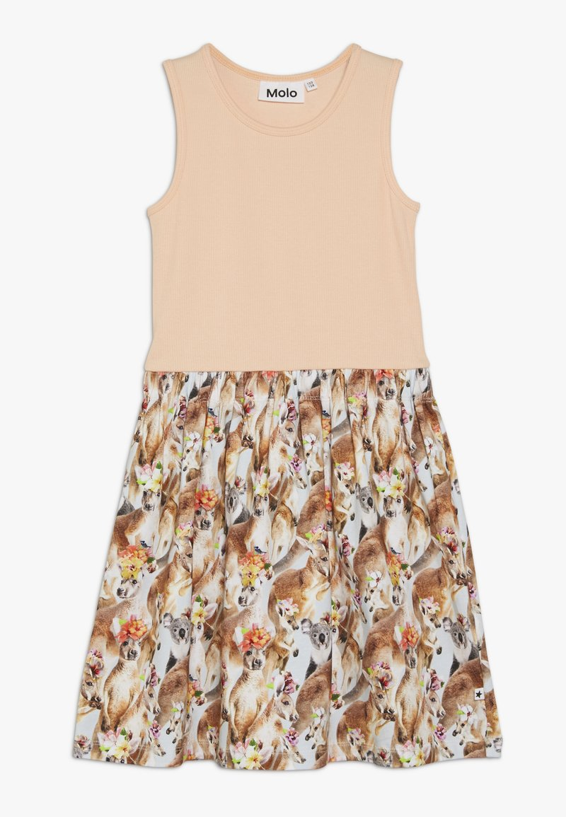 Molo - COLLEEN  - Jersey dress - apricot/multi-coloured