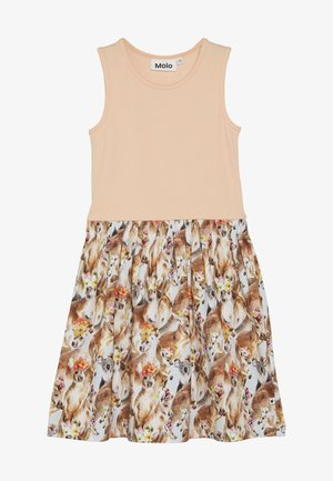 COLLEEN  - Robe en jersey - apricot/multi-coloured