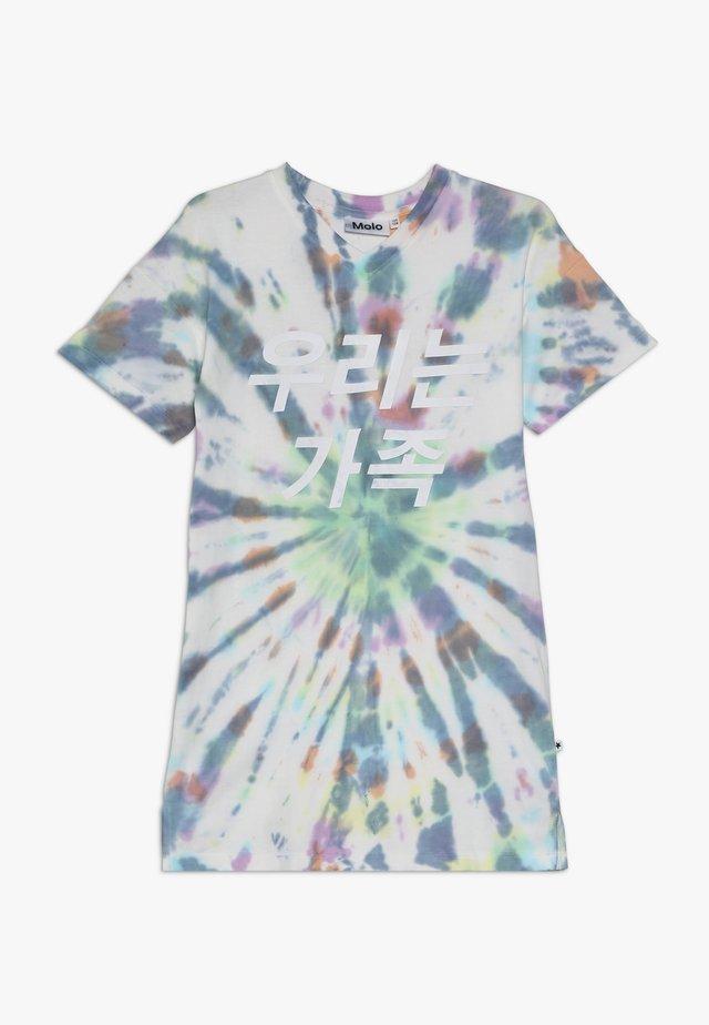CARO - Jersey dress - multi tie dye
