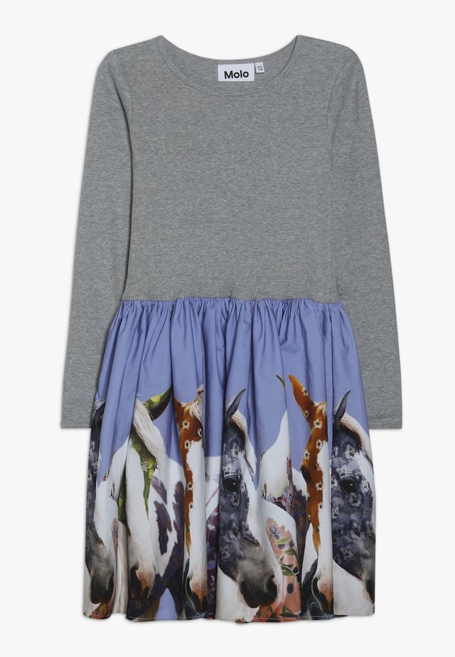 CASIE - Jersey dress - grey/multi-coloured