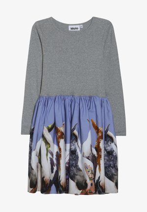 CASIE - Jersey dress - grey/multi-coloured