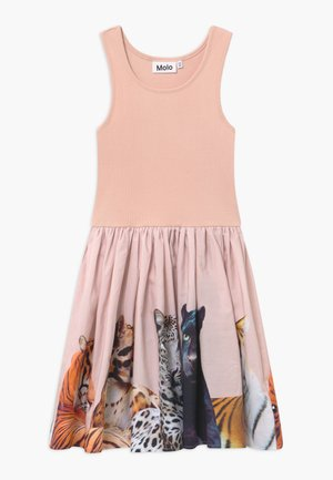 CASSANDRA - Jersey dress - light pink/multi-coloured