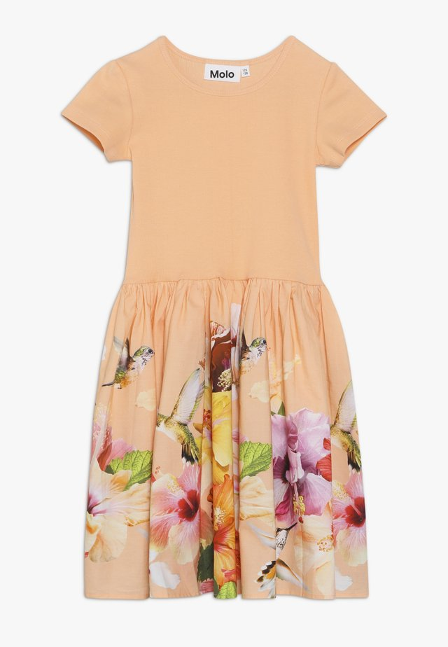 CISSA - Robe d'été - apricot/multi-coloured