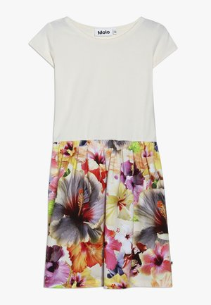 CARLA  - Jersey dress - white/multi-coloured