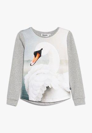 ROXANA - T-shirt à manches longues - mottled grey/white