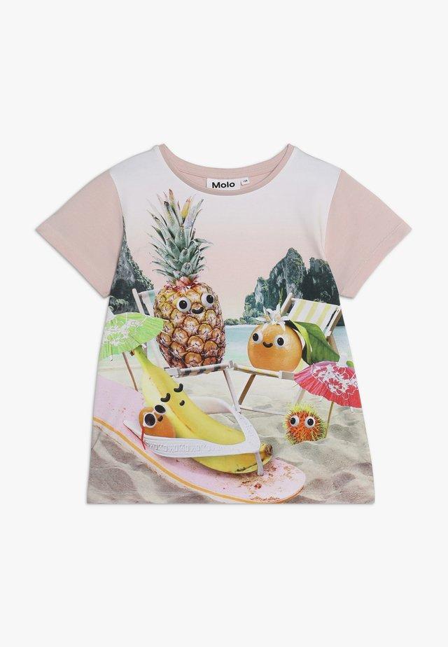 RISHA  - T-Shirt print - light pink/multi-coloured