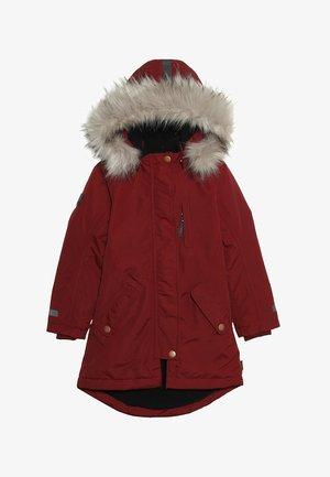 PEACE - Zimní kabát - carbernet