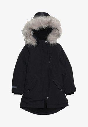 PEACE - Zimní kabát - very black