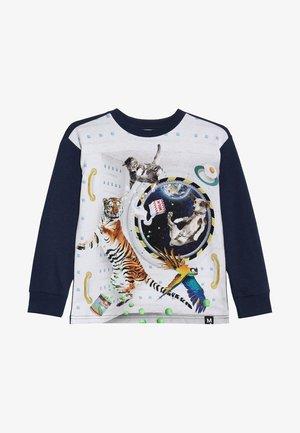RISCI - T-shirt à manches longues - dark blue/white