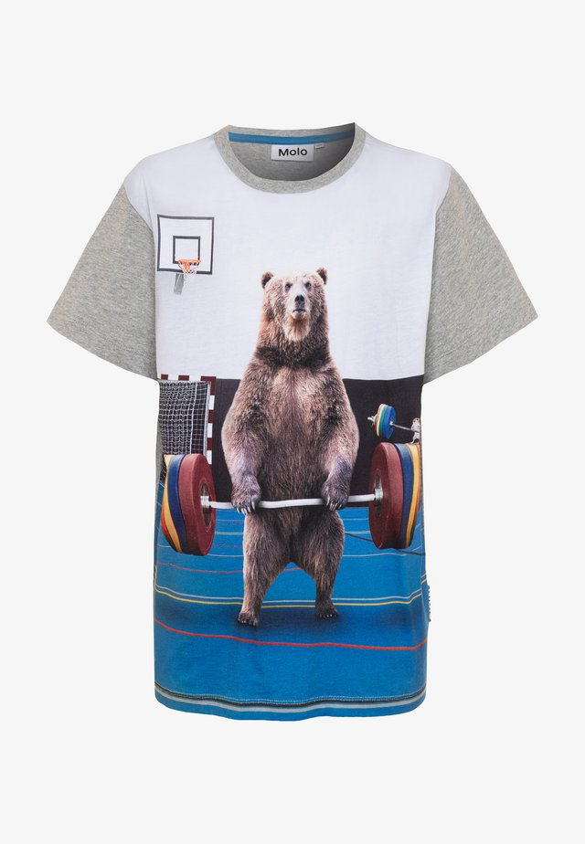 RASMUS - T-Shirt print - mottled grey