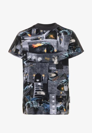 RISHI - Print T-shirt - black