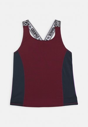 ORIANA - Sports shirt - bordeaux/dark blue