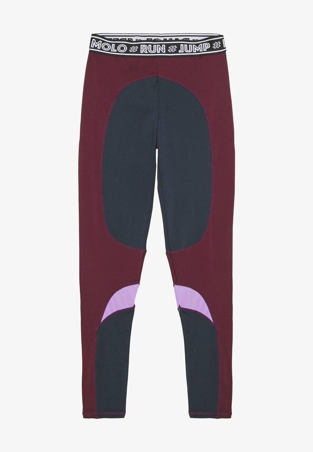 OLYSSIA - Leggings - bordeaux, dark blue