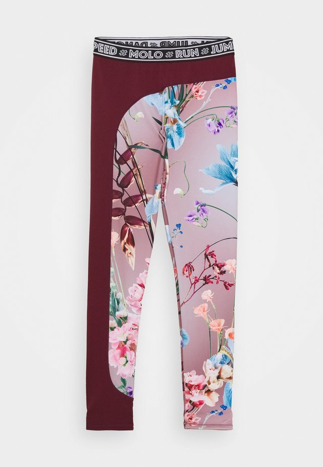 OLYMPIA - Tights - light pink/bordeaux