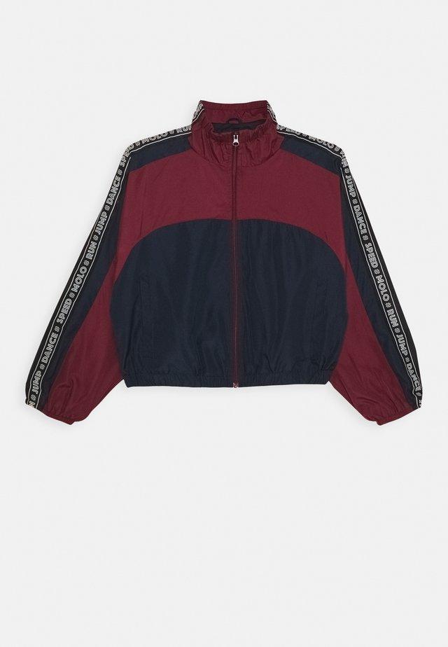 ONIKA - Training jacket - bordeaux/dark blue