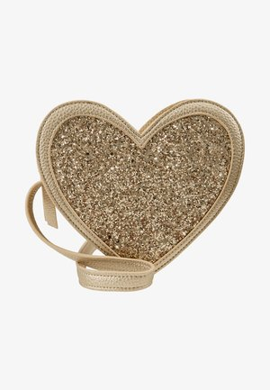 HEART BAG - Across body bag - gold