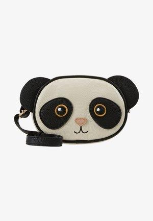 PANDA BAG - Taška spříčným popruhem - black/white